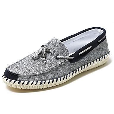 Herre sko Tekstil Sommer Komfort Båtsko Grønn / Blå / Burgunder