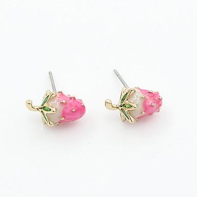 Coquillage Alliage Mode Forme Géométrique Rouge Rose Bijoux Mariage Soirée Quotidien Décontracté Sports 1 paire