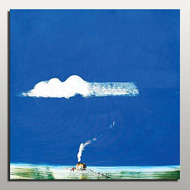 יד מצוירת תמונת אמנות קיר ציור שמן בד נוף מופשטות מודרנית עם מסגרת מתוח מוכנה לתלות
