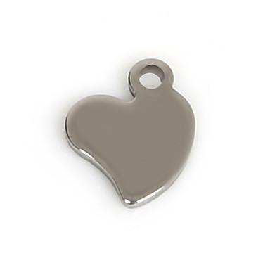 Breloques Métallique Heart Shape comme image 50Pcs