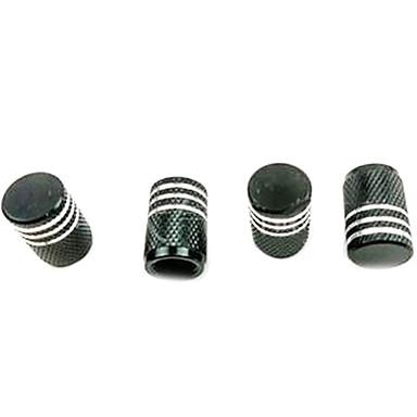 povoljno Kape za ventile-4 kom boja aluminij auto napaja ventil za gumu poklopac za prašinu zaštitna kapa crna