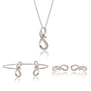 Damen Schmuckset Halskette / Ohrringe Halskette / Armband Geschenkboxen & Taschen bezaubernd Einstellbar Hochzeit Party Alltag Normal