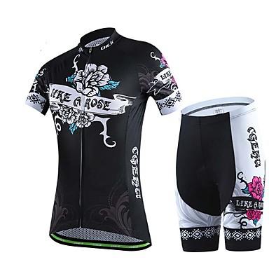 Esportivo Moto/Ciclismo Blusas / Fundos Mulheres Manga Curta Respirável / Redutor de Suor Elastano Esporte S / M / L / XL / XXL