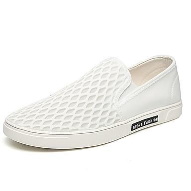 Herre-Tekstil-Flat hæl-Komfort-一脚蹬鞋、懒人鞋-Fritid-