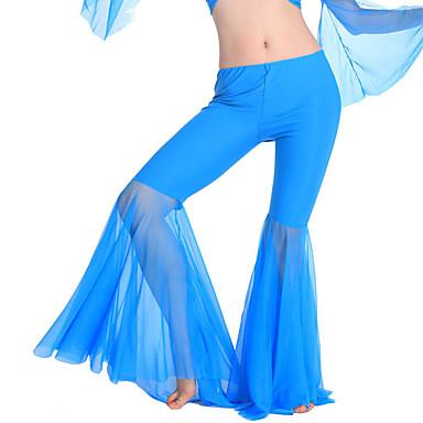 ריקוד בטן חלקים תחתונים בגדי ריקוד נשים אימון פוליאסטר בד נשפך בלי שרוולים טבעי מכנסיים