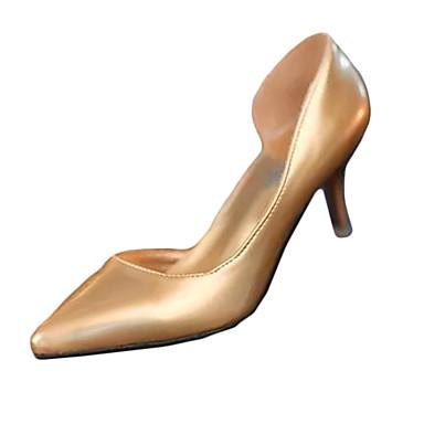 Magassarkú-Stiletto-Női cipő-Magassarkúak-Alkalmi-PU-Ezüst / Arany