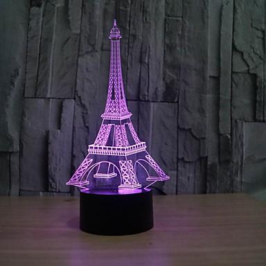 1 Stück 3D Nachtlicht Abblendbar USB Mehrfarbig Kunststoff 1 Lampe Keine Batterien enthalten 23.0*17.0*4.5cm