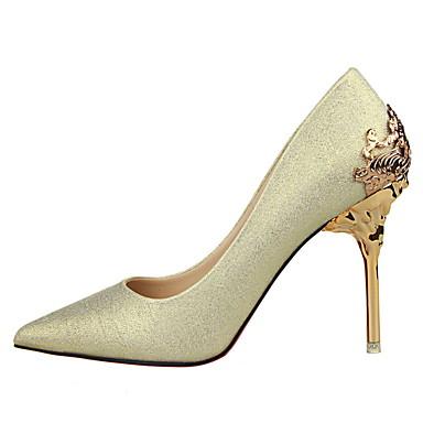 les chaussures de cuir synthétique printemps / / Été / printemps automne de talon aiguille crystal talon rouge / vert / Or en / mariage / partie & soir cbf802
