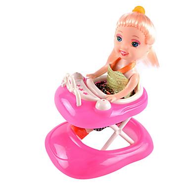 dukke tilbehør liten lori utenlandske walker barnevogn bil skyve utenlandsk prinsesse lekehuset uten babyen