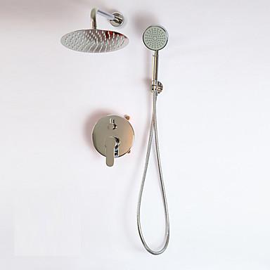 עכשווי מערכת למקלחת נפוץ שסתום קרמי חור אחד שתי ידיות חור אחד כרום , ברז למקלחת