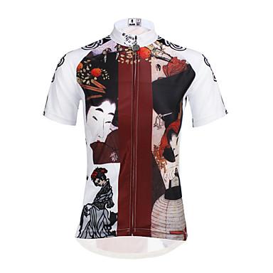ILPALADINO חולצת ג'רסי לרכיבה בגדי ריקוד נשים שרוולים קצרים אופניים ג'רזי צמרות ייבוש מהיר עמיד אולטרה סגול נושם רך כיס אחורי מפחית