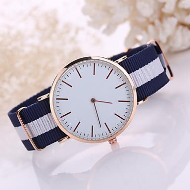 Herrn Armbanduhr Armbanduhren für den Alltag Stoff Band Minimalistisch / Kleideruhr Schwarz / Weiß / Blau / Tianqiu 377