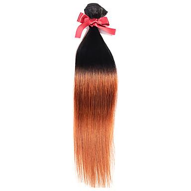 Ombre Orta Dalgalı Malezya Saçı Rovné 12 ay 1 Parça saç örgüleri
