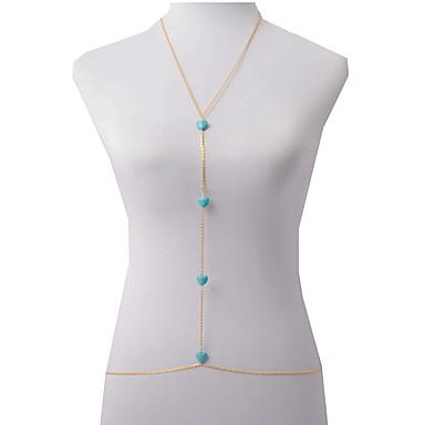 Női Testékszer Deréklánc Body Lánc / Belly Chain Arannyal bevont Sexy minimalista stílusú Divat Heart Shape Aranyozott ÉkszerekNapi