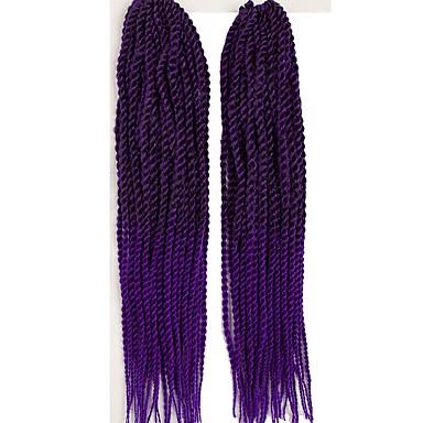 Tranças torção Senegal fibra sintética 1b / roxo burgundy 1b / # 27 Loiro Morango/Loiro Claro 1b / # 30 Extensões de cabelo 56cmTranças
