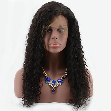 Cheveux humains Dentelle frontale Perruque Bouclé 130% Densité 100 % Tissée Main Perruque afro-américaine Ligne de Cheveux Naturelle