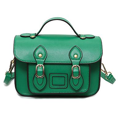 Damen Taschen PU Umhängetasche für Normal Schwarz / Rot / Grün