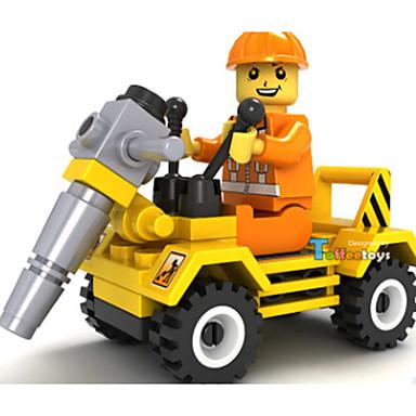 JIE STAR Carros de Brinquedo Blocos de Construir 1pcs Carro Caminhão Veiculo de Construção Amiga-do-Ambiente Veiculo de Construção
