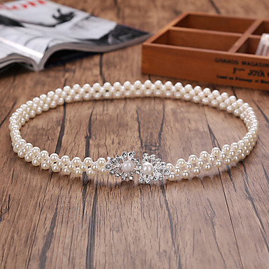 Perle Elastique Mariage Fête / Soirée Ceinture With Imitation Perle Femme Ceintures