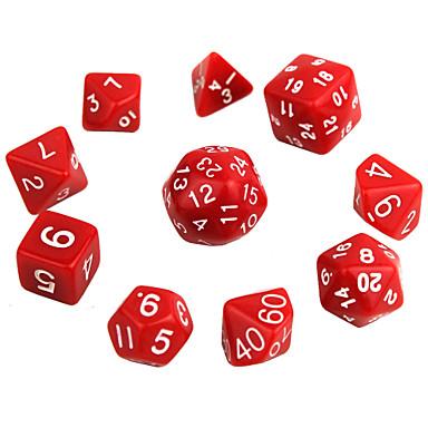 Terning Polyhedral Dice Set Leketøy utsøkt Moro Praktiskt Multifunksjon Akryl 10 Deler Gave