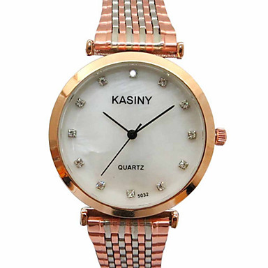 Homens Relógio de Moda Quartzo Relógio Casual Aço Inoxidável Banda Pendente Luxuoso Prata Dourada