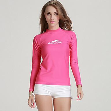 SBART Femme Anti Irritation SPF50, Protection UV contre le soleil, Séchage rapide Tactel Manches Longues Tenues de plage Tee-shirts