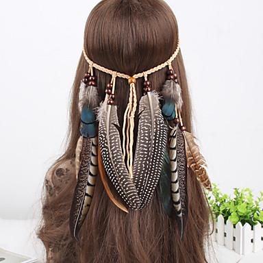headbands tecer pavão do vintage pérolas pena pendente das mulheres 1 peça