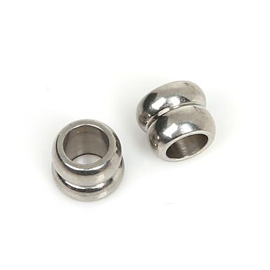 beadia 5pcs rustfritt stål 8x9mm spacer perler for smykker gjør (6mm hull)