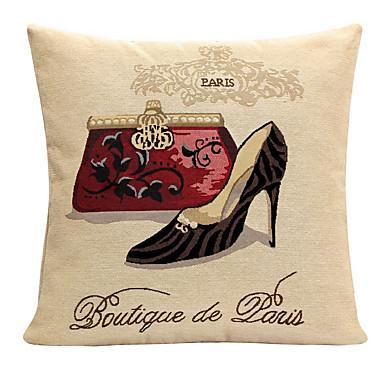 pcs Coton/Lin Taie d'oreiller Housse de coussin, Imprimés Photos Texturé Traditionnel/Classique