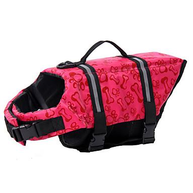 Hund Float Coat für Hunde Schwimmweste Hundekleidung Jagd Bootfahren Reflektierend Auftrieb Schwimmen Wasserdicht Knochen Rosa Hellblau