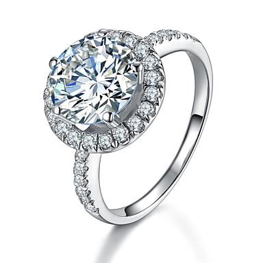 Dames Bandringen Modieus Sterling zilver Strass Gesimuleerde diamant Sieraden Bruiloft
