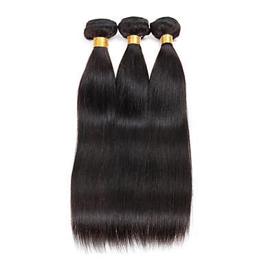 3 osainen Straight Hiukset kutoo Brasilialainen 100g per bundle 8inch-28inch Hiukset Extensions