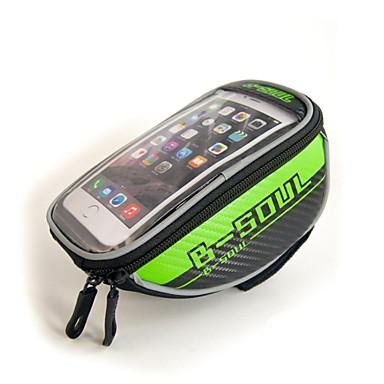 abordables Sacoches de Vélo-B-SOUL 1.5L Sac de téléphone portable Sac Cadre Velo Sacoche de Guidon de Vélo Ecran tactile Multifonctionnel Réfléchissant Sac de Vélo Oxford Sac de Cyclisme Sacoche de Vélo iPhone X / iPhone XR