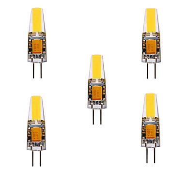 abordables Ampoules électriques-ywxlight® 5pcs 5w 200-300lm g4 led lumières bi-broches cob chip 360 lumières d'angle de faisceau remplacent 30w halogène g4 spot ac / dc12-24v