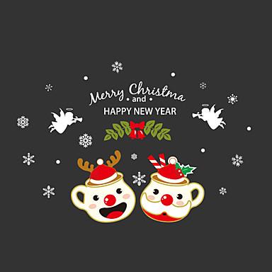 Kerstmis Muurstickers Vliegtuig Muurstickers Decoratieve Muurstickers Materiaal Wasbaar Verwijderbaar Verstelbaar Huisdecoratie