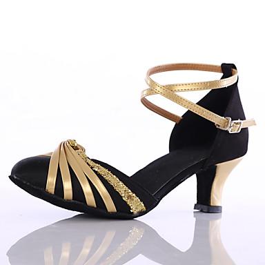 Aanpasbaar-Dames-Dance Schoenen(Zwart / Roze / Rood) - metSpeciale hak- enLatin