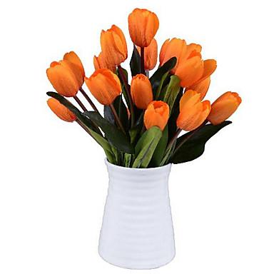 1 Une succursale Soie Tulipes Fleur de Table Fleurs artificielles