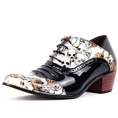 zapatos de boda de los hombres / exterior / oficina&carrera / partido&noche / vestido / casuales zapatos Oxford de charol negro