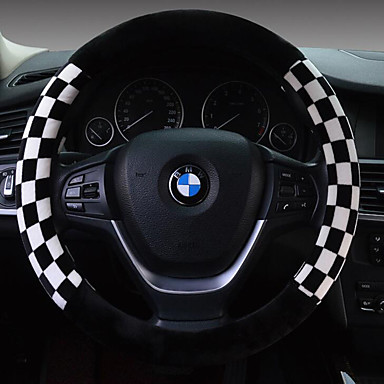 cheap Steering Wheel Covers-Steering Wheel Covers Plush 38cm Brown / White / Red For universal