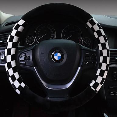 رخيصةأون اكسسوارات السيارات الداخلية-أغطية إطارات القيادة قطيفة 38cm بني / أبيض / أحمر من أجل عالمي