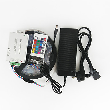 ZDM™ 5 M 120 5050 SMD RGB חסין למים / שלט רחוק / החלפת צבעים 144 W סרטי תאורה RGB AC100-240 V