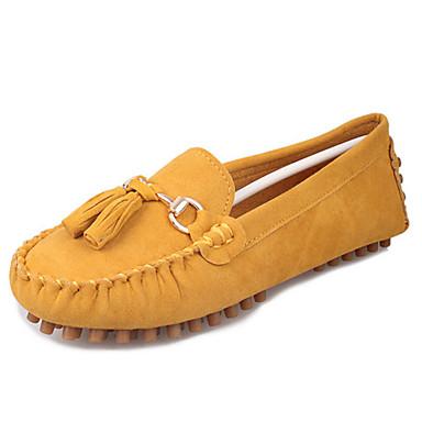 Dames Schoenen Fleece Zomer Comfortabel Platte schoenen Platte hak Kwastje Groen / Blauw / Bordeaux