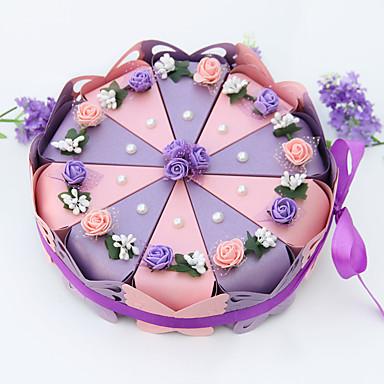 Cilindro Papel de tarjeta Soporte para regalo  con Pajarita / Cintas / Flor Cajas de regalos
