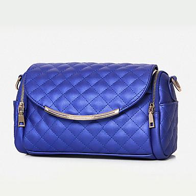 Femme Polyuréthane Formel / Décontracté / Bureau & Travail / Shopping Sac à Bandoulière Beige / Rose / Bleu / Rouge / Noir