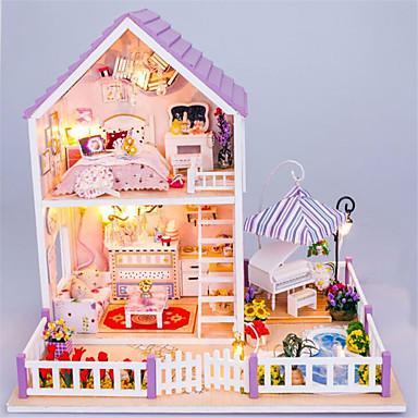preiswerte Puppen-Hoomeda Puppenhaus Tue so als ob du spielst Neuartige Burg Haus Hölzern Kunststoff 1 pcs Stücke Baby Mädchen Spielzeuge Geschenk