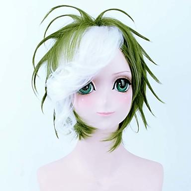 ビッグバンパーティーかつら高品質の白い魅力的なコスプレウィッググリーンミックス