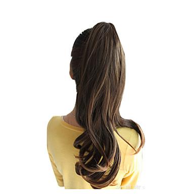 Cross Type At Kuyrukları Sentetik Saç Saç Parçası Ek saç Dalgalı