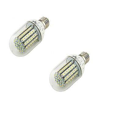 6W E26/E27 LED-globepærer T 90 SMD 3528 500 lm Varm hvit Dekorativ AC 220-240 / AC 110-130 V 2 stk.