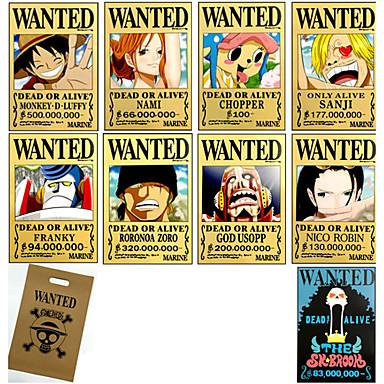 Más Accesorios Inspirado por One Piece Monkey D. Luffy Animé Accesorios de Cosplay Tarjeta Papel Hombre / Mujer nuevo / caliente Disfraces de Halloween