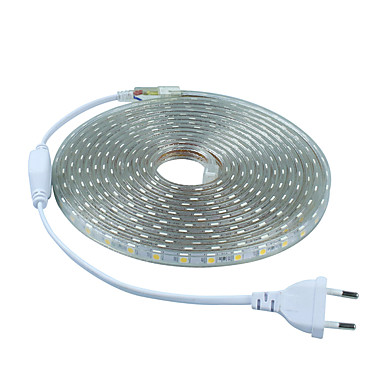 Faixas de Luzes LED Flexíveis 300 LEDs Branco Quente Branco Verde Azul Vermelho Cortável 220-240V